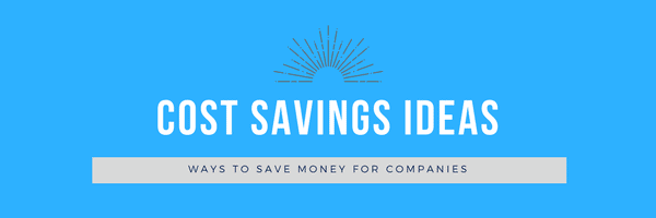 cost savings ideas for companies banner