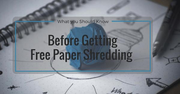free paper shredding Toronto