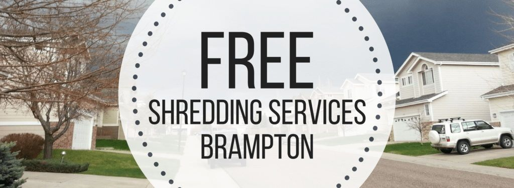Free Shredding Brampton