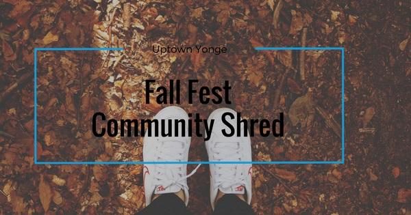 fall fest free community shredding