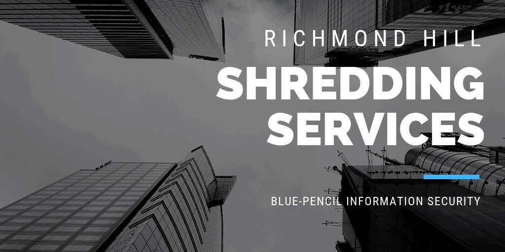 richmond hill shredding services