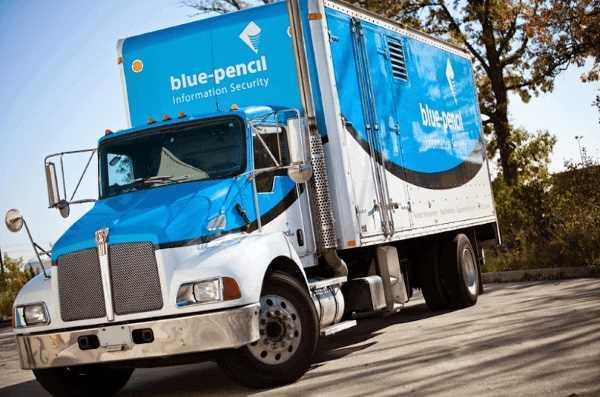 Blue-pencil truck