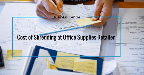 cost of shredding staples banner