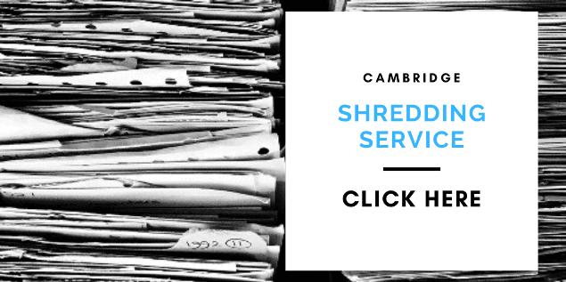 cambridge shredding service