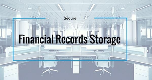 financial records storage banner