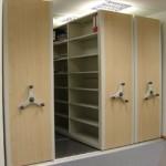 save money on information management using mobile shelves