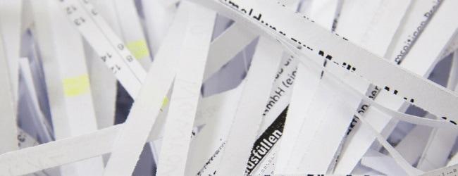 strip shredded paper