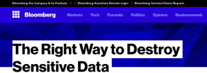 bloomberg the right way to destroy information
