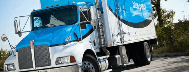 Blue-Pencil Shredding Truck