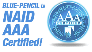 Blue Pencil is NAID AAA Certified
