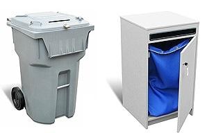 Blue-Pencil's secure shredding bin and shredding console