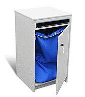 Blue-Pencil Secure Paper Shredding Console