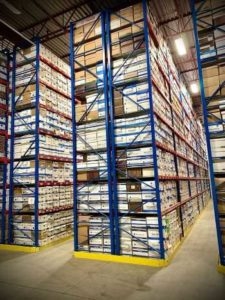 boxes on racking at document storage facility
